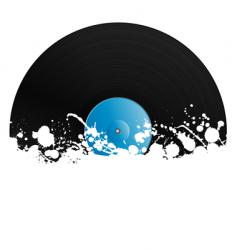 splatter retro vinyl design element vector image