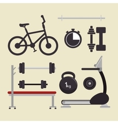 Sport equipment gym training vector