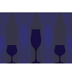 Background Bottle Ilustration blue vector image