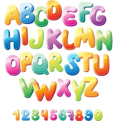 Alphabet and numbers vector
