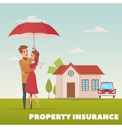Property insurance design concept vector