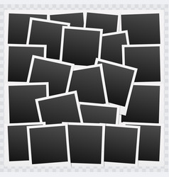 Background with blank photo frames vector