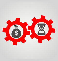 Time is money business flat icon vector