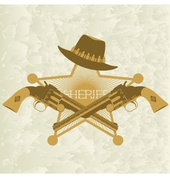 Sheriffs badge-2 vector