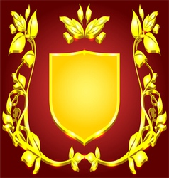Coat of arms gold monogram vector