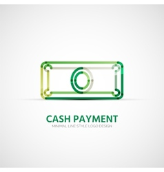 Cash payment company logo business concept vector