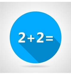 Flat icon for mathematics vector