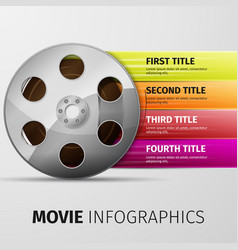 Movie infographics vector