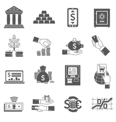 Banking icon black set vector