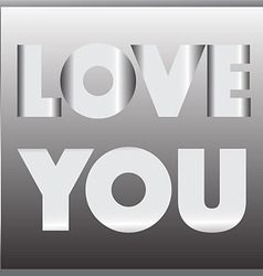 Love you metal sign vector