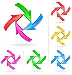 Arrow color design elements vector