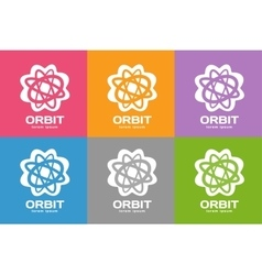 Technology orbit web rings logo vector