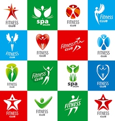 Biggest collection of logos for fitness clubs vector