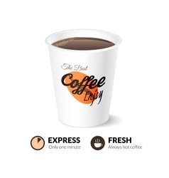 Card template with coffee cup vector