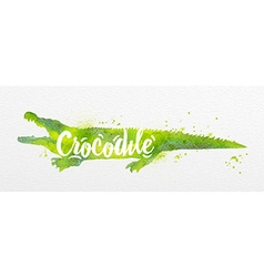 Painted animals crocodile vector