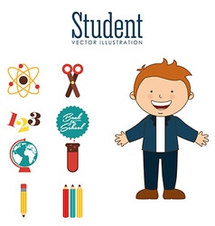 Students back to school design vector