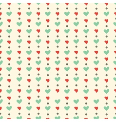 Hearts and dots pattern vector