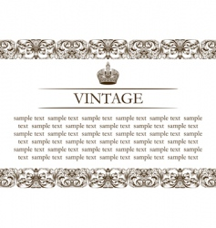 Vintage frame decor line vector
