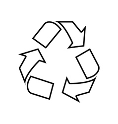 Recycle icon ecology design graphic vector