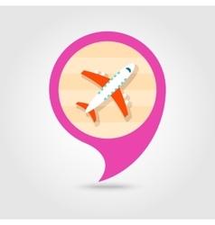 Aircraft pin map icon travel summer vacation vector