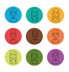 avatars people man and woman portrait set vector image vector image