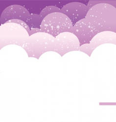 background cloud vector image vector image