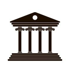 black Greek colonnade vector image