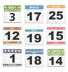 Calendar Pages vector image