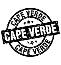 Cape verde black round grunge stamp vector
