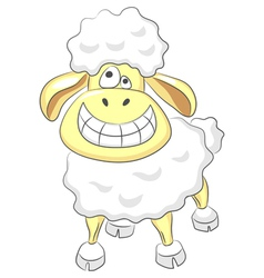 cartoon happy ram vector image