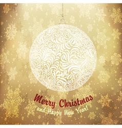 Christmas golden ball vector image vector image