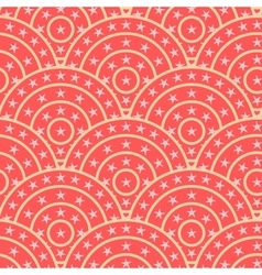 Circle with star shape seamless pattern vector