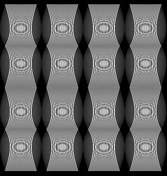 Design seamless monochrome lines textured pattern vector
