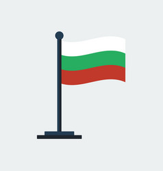 flag of bulgaria flag stand vector image vector image