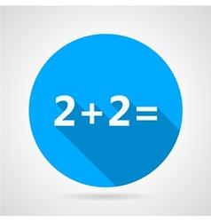 Flat icon for mathematics vector