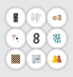 Flat icon play set of multiplayer people guess vector