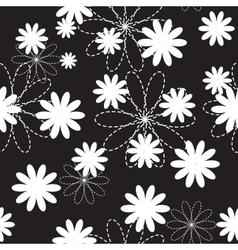 Flora flower seamless pattern design vector