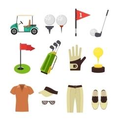 Golf Equipment Flat Set vector image vector image