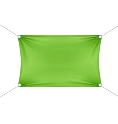 Green blank empty horizontal rectangular banner vector