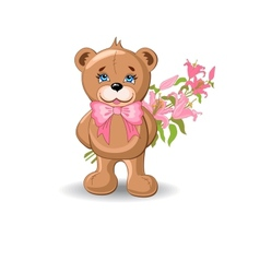 Holiday Background With Bear vector image