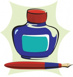 ink and pen vector image vector image