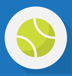 Of sport symbol on tennis flat vector