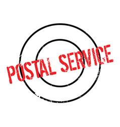Postal service rubber stamp vector