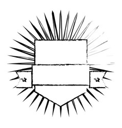 Shield sport ribbon emblem decoration image vector