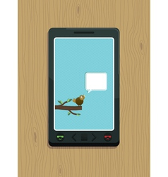smart phone bird vector image