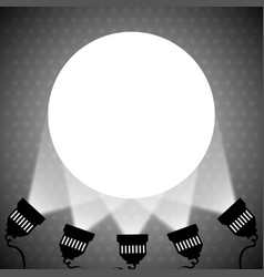 spotlight projecting to blank wall vector image vector image
