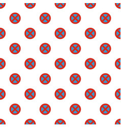 stop prohibited pattern seamless vector image vector image