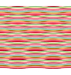 Striped waved pattern vector image vector image