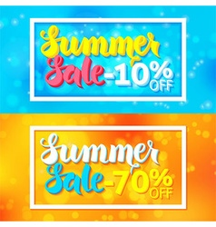 Summer Sale Website Horizontal Banners with White vector image