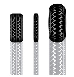 Tire track 1 vector image vector image